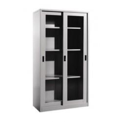 Steel Full Height Sliding Glass Door Cupboard