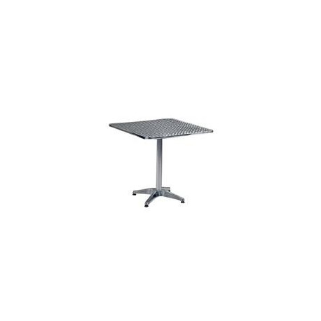 "27.5"" Square Aluminium Table"