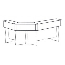 Corner Reception Counter