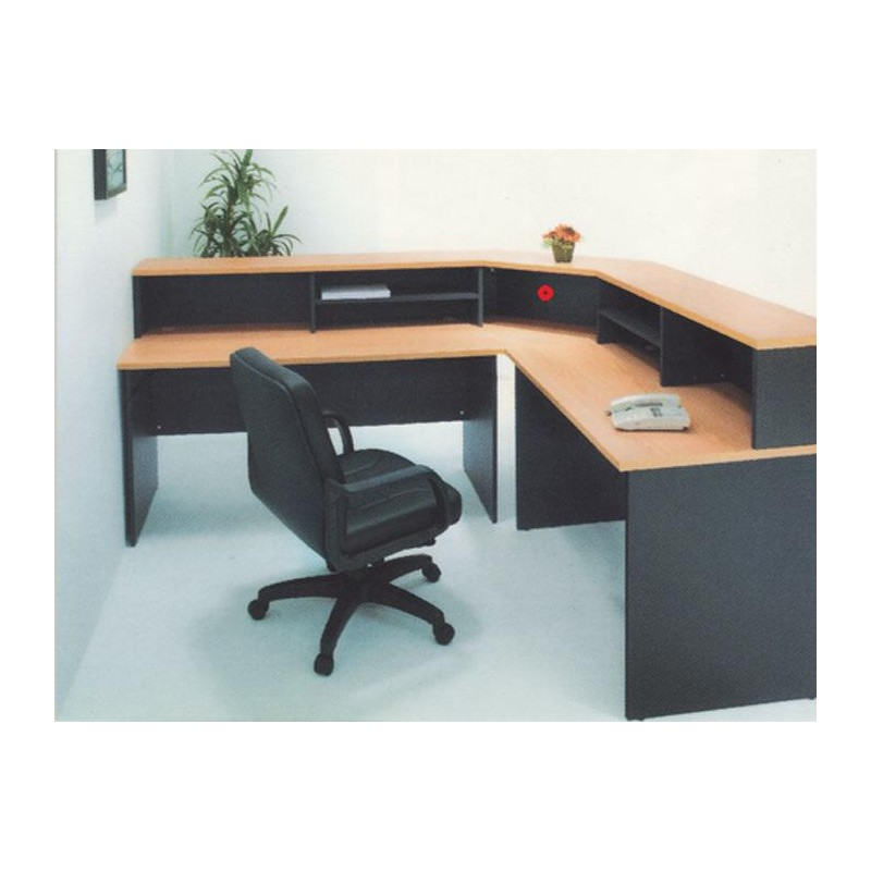 Corner Reception Counter Miri Furniture